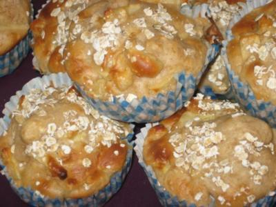 Apfel-Haferflocken-Muffins - Rezept