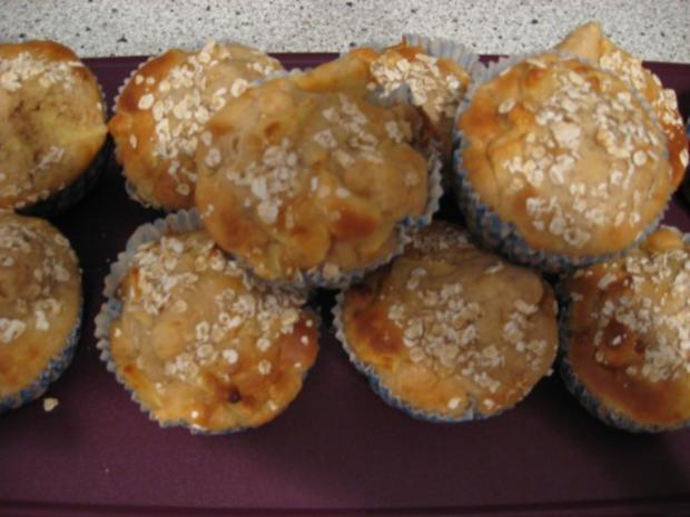 Apfel-Haferflocken-Muffins - Rezept - Bild Nr. 2