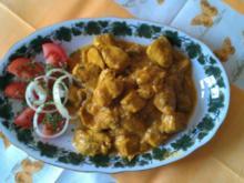 Geflügel Curry mit Aubergine und Kokosmilch - Rezept