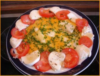Omelett mit Tomaten und Mozzarella - Rezept