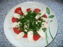 Mozzarella mit Tomate - Rezept