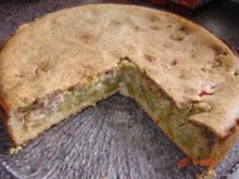 Kuchen & Torten : Rhabarberkuchen mit Mandeldecke - Rezept