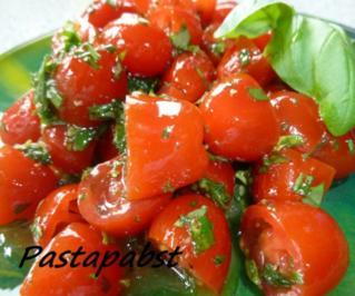 Rezept: Tomatensalat -Kräuterig-Fruchtig