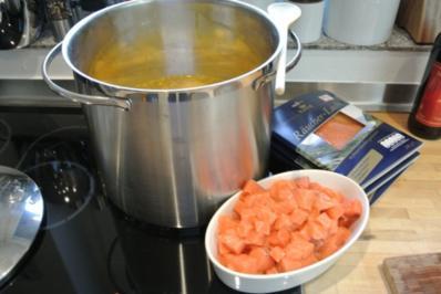 Kartoffelsuppe mit Lachs - Rezept