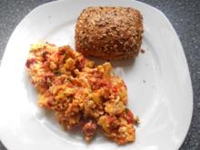 menemen sucuklu türkische Eierspeise mit Knoblauchwurst - Rezept