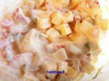 Salat: Käse und Paprika mit Bärlauch - Rezept