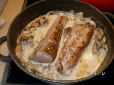 Schweinefilet mit Pilzen für Gäste - Rezept