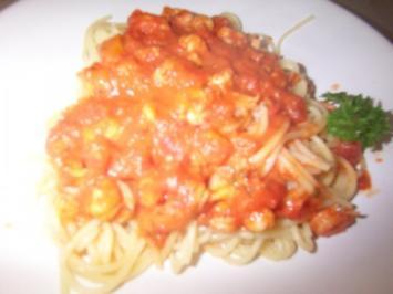 Flußkrebs - Tomatensoße zu Spaghetti - Rezept