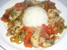 Wok-Gemüse mit Puten-Steak Streifen - Rezept
