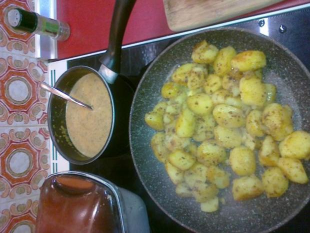 Frischer Spargel mit Schnitzel und Bärlauchsoße dazu Butterkartoffeln - Rezept - Bild Nr. 20