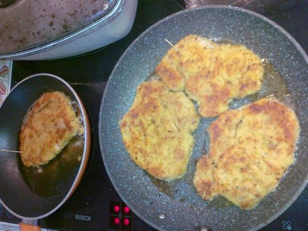 Frischer Spargel mit Schnitzel und Bärlauchsoße dazu Butterkartoffeln - Rezept - Bild Nr. 33