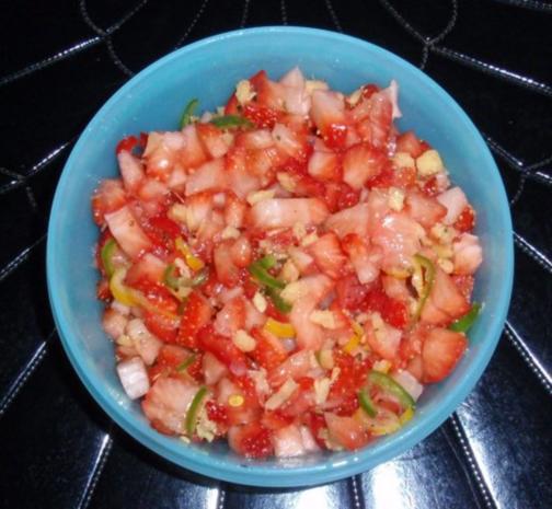Spargel mit pikant zubereiteten Erdbeersalat - Rezept - Bild Nr. 7