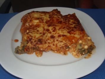 Rezept: Cannelloni mit Hack-Spinat Füllung