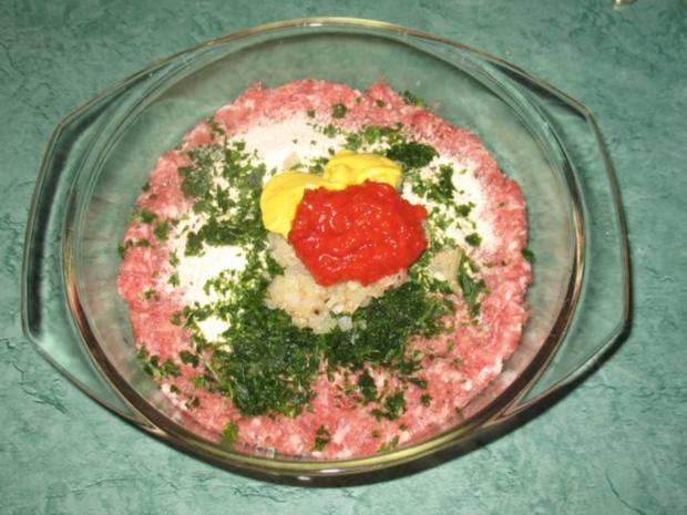 Fleisch - Ajvar-Burger und Ajvar-Bällchen - Rezept - Bild Nr. 3