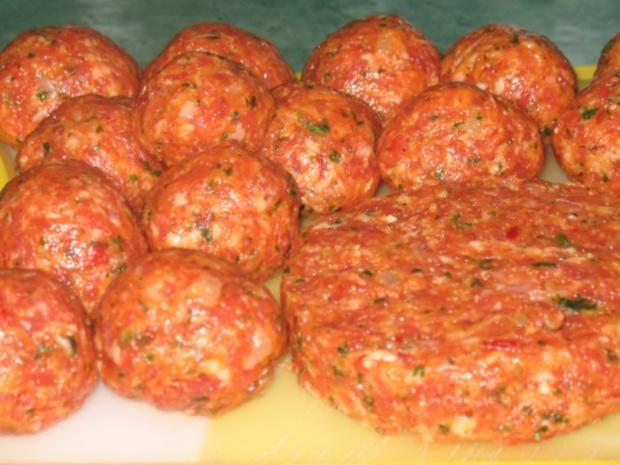 Fleisch - Ajvar-Burger und Ajvar-Bällchen - Rezept - Bild Nr. 8