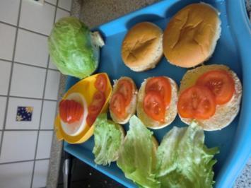 Gegrillte Hamburger - Rezept