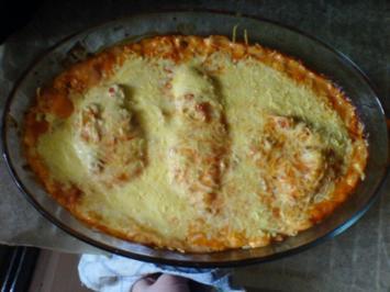 Überbackenes Hähnchenbrustfilet - Rezept
