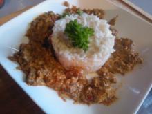 Hackpfanne auf tuerkische Art mit Reis - Rezept