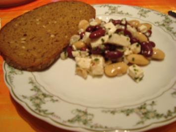 Bohnensalat mit Fetakäse - Rezept