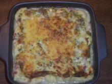 Tortelini mit Schinken-Käse-Soße im Ofen überbacken - Rezept
