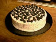Blaubeer-Zitronenquark Torte - Rezept