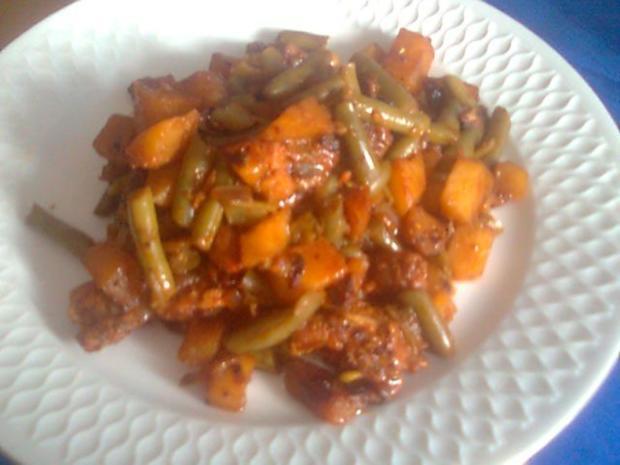 Bohnen-Puten-Pfännchen - Rezept