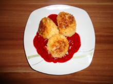 Süße Reisbällchen mit Himbeersoße - Rezept