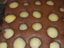 backen / Kuchen: versunkener Birnenkuchen - Rezept