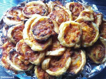 Pizzaschnecken - Blätterteig / Hefeteig Schnecken - Rezept