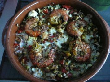 TAPAS /LANGOSTINOS EN VERDURAS,muy picante - Rezept