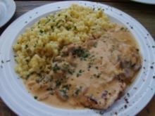 Champignonschnitzel mit Kräuterreis - Rezept