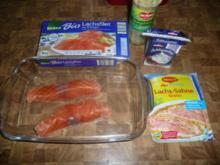 Lachs-Gratin mit Nudeln und Spargel - Rezept