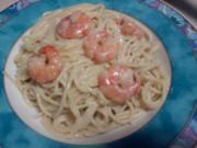 Spaghetti  Scampi mit viel Knoblauch ala Steffi - Rezept