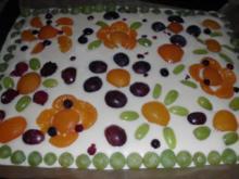 Obst-Käsekuchen vom Blech - Rezept