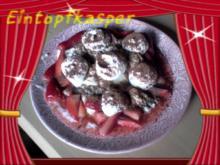Basilikumcreme mit Erdbeeren a´la Jörg und Kakaosahne - Rezept