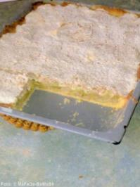 Rhabarberkuchen mit Mandelbaiser - Rezept