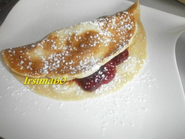 Eierpfannenkuchen mit Cranberrie - Kompott - Rezept - Bild Nr. 6