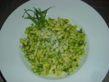 Kartoffelspätzle mit Bärlauchpesto - Rezept
