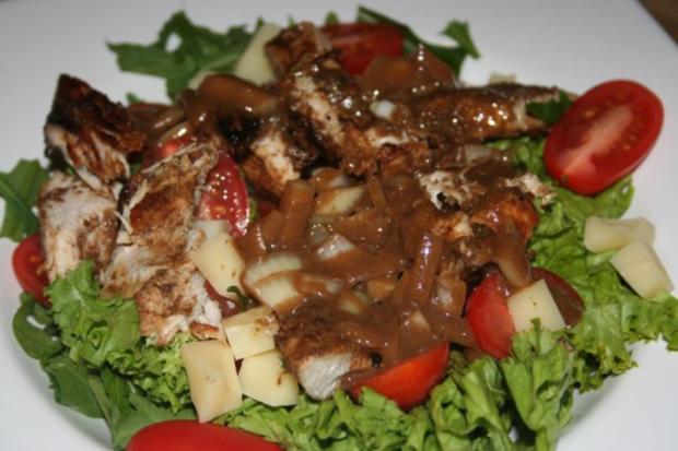 knackiger Salat mit Putenbrustfilet mit Balsamico-Dijon-Senf-Dressing - Rezept - Bild Nr. 5