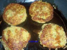 Kochen: Kartoffel-Gemüse-Bratlinge mit scharfem Ananas-Frischkäse-Dip - Rezept