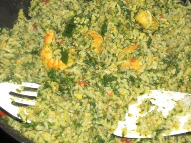 Indische Garnelen-Spinat-Pfanne mit Basmati-Reis - Rezept - Bild Nr. 16