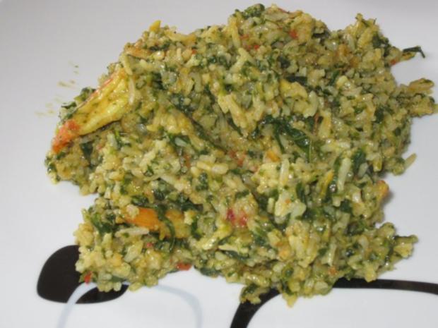Indische Garnelen-Spinat-Pfanne mit Basmati-Reis - Rezept - Bild Nr. 17