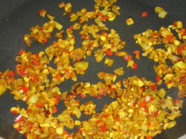 Indische Garnelen-Spinat-Pfanne mit Basmati-Reis - Rezept - Bild Nr. 7