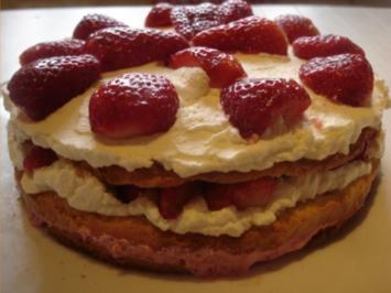 Rezept: Kleine Erdbeertorte