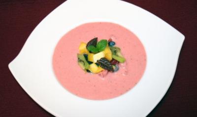 Melonen-Erdbeer-Gazpacho - Rezept