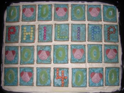Butterkekskuchen zum Kindergeburtstag, ideal für Kindergarten, Party, Hochzeit, Taufe etc. - Rezept