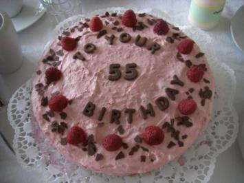 Rezept: Himbeer-Mascarpone-Torte mit Wiener-Boden / Bisquit-Boden