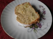 Kleiner Kokos - Rhabarber - Kuchen - Rezept