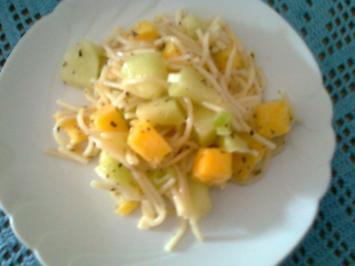 Spaghettisalat mit Mango und Honigmelone - Rezept