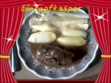 Kalbsrouladen a`la Jörg mit Spargel und Anabelle Kartoffeln - Rezept